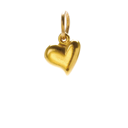 full heart charm, gold dipped