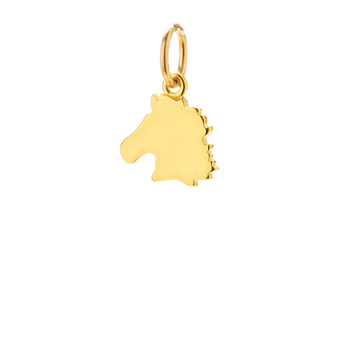 horse charm, gold dipped