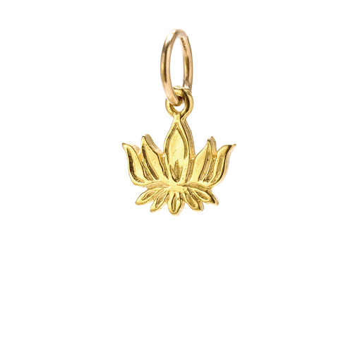 lotus charm, gold dipped