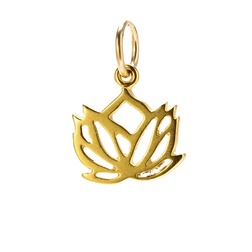 rising lotus charm, gold dipped