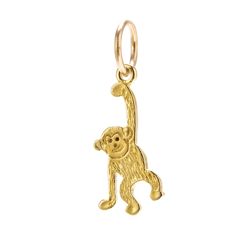 create gold dipped monkey charm