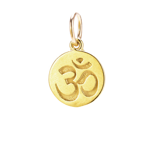 om charm, gold dipped