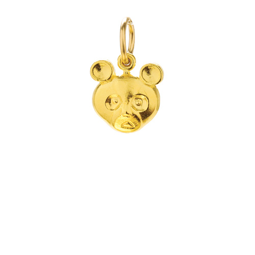 panda bear charm, gold dipped