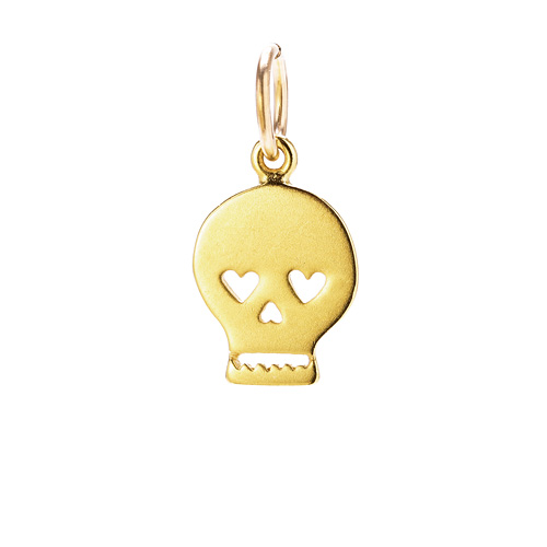 skull charm, gold dipped