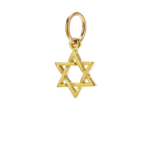 jewish star charm, gold dipped