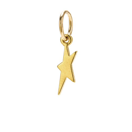 dancing star charm, gold dipped
