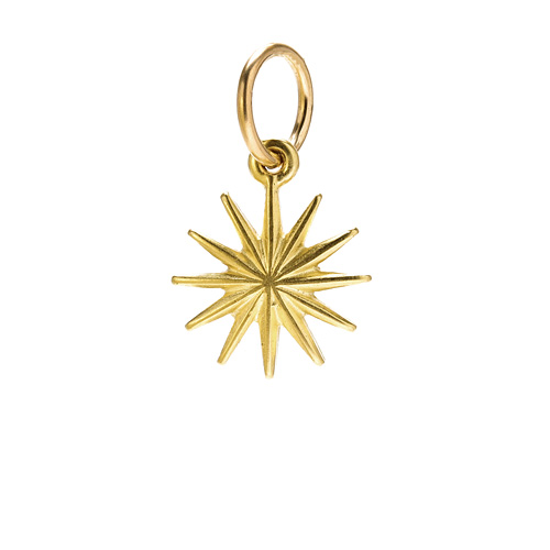 starburst charm, gold dipped