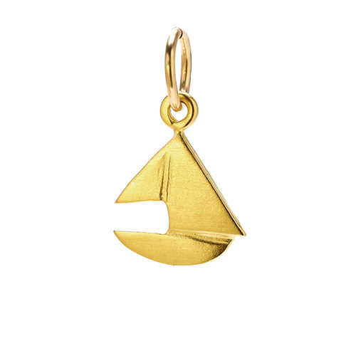sailboat charm, gold dipped