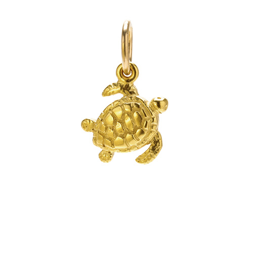 sea turtle charm, gold dipped