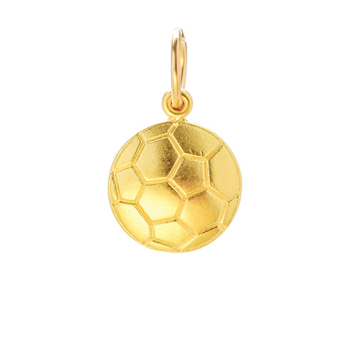 soccer ball charm, gold dipped