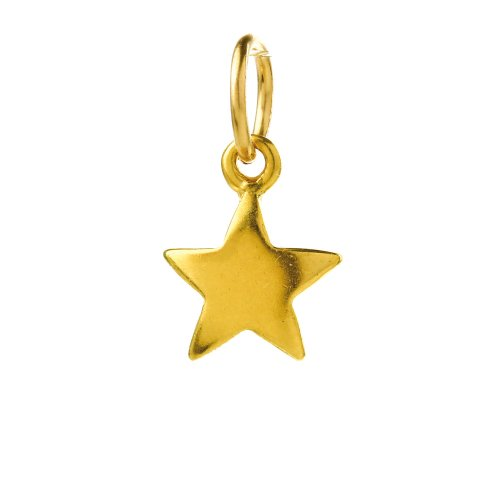 full star charm, gold dipped