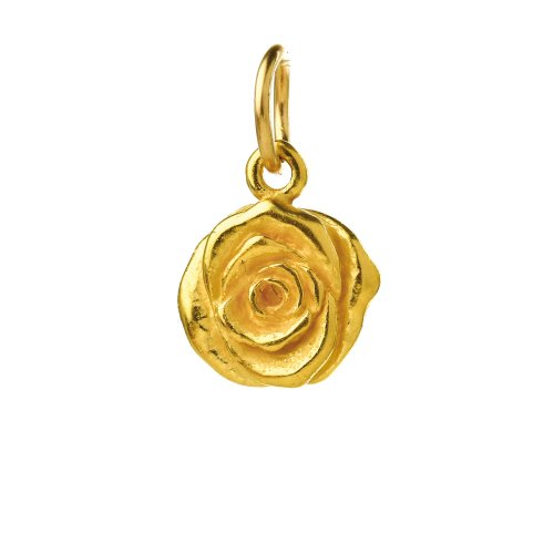 rose charm, gold dipped
