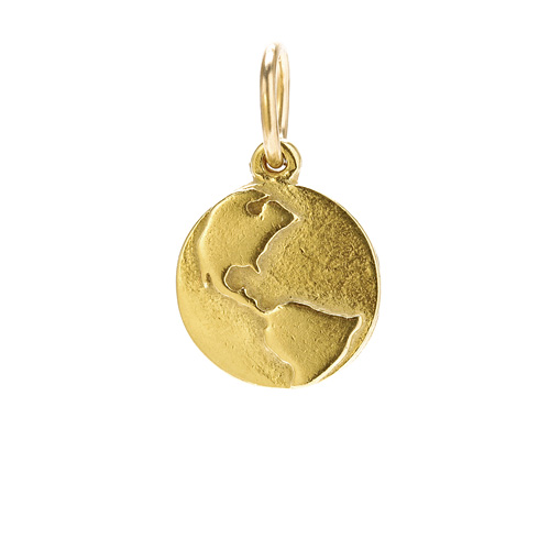 globe charm, gold dipped