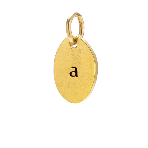 &quot;A&quot; charm, gold dipped