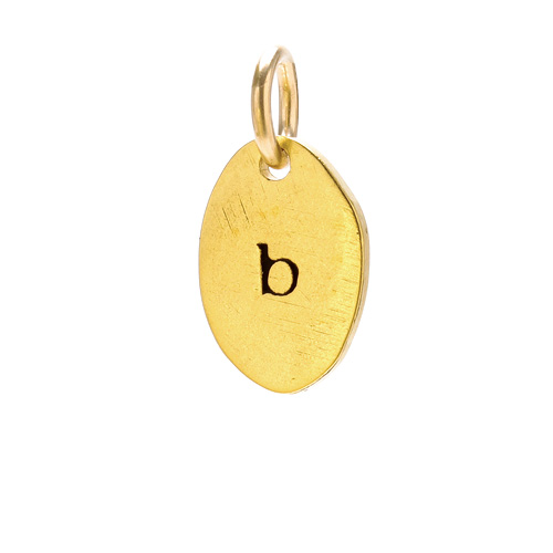 """B"" charm, gold dipped"