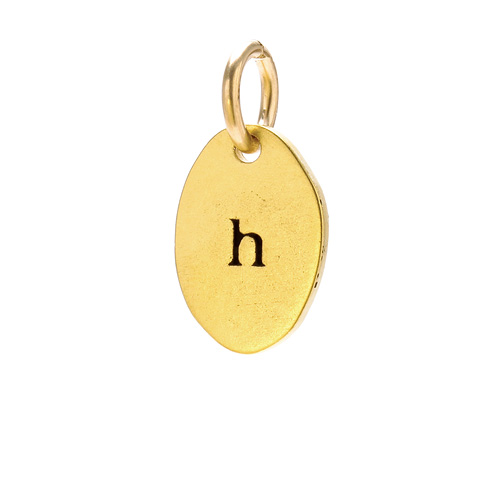 &quot;H&quot; charm, gold dipped