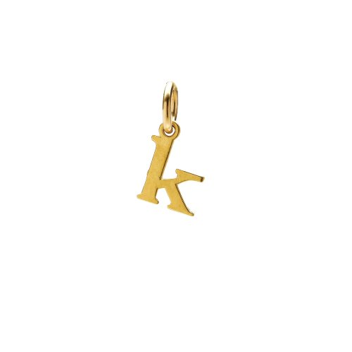 open k charm, gold dipped