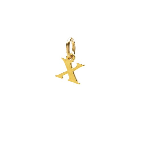 open x charm, gold dipped
