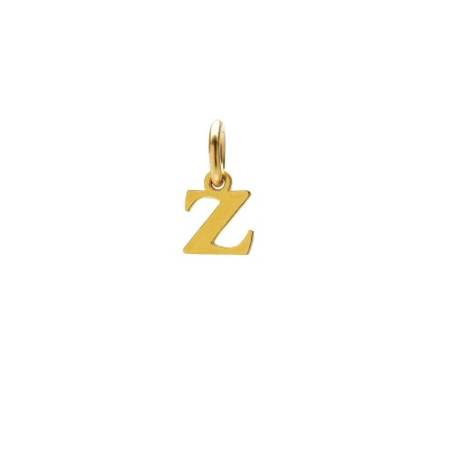 open z charm, gold dipped