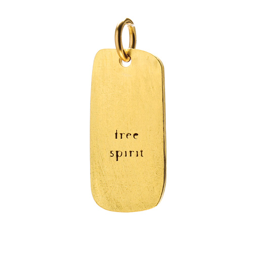 &quot;free spirit&quot; charm, gold dipped