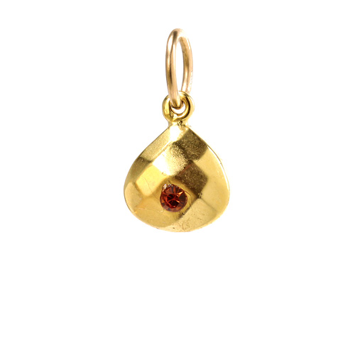 november birthstone charm, gold dipped