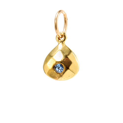 december birthstone charm, gold dipped