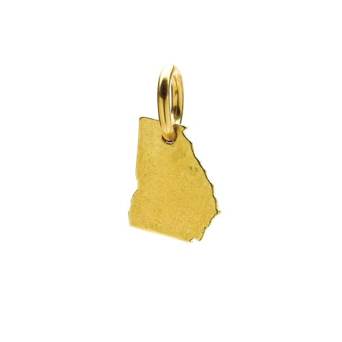 georgia charm, gold dipped
