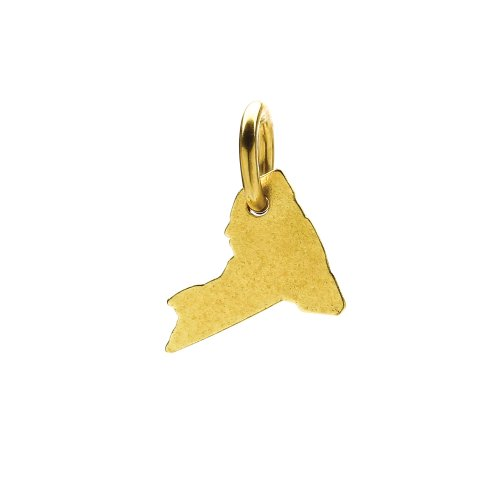 new york charm, gold dipped