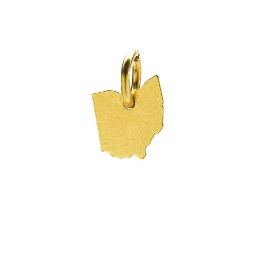 ohio charm, gold dipped