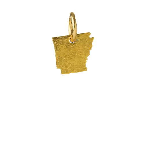 arkansas charm, gold dipped