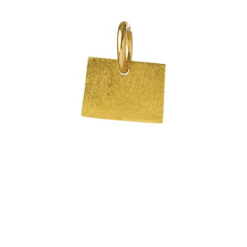 colorado charm, gold dipped