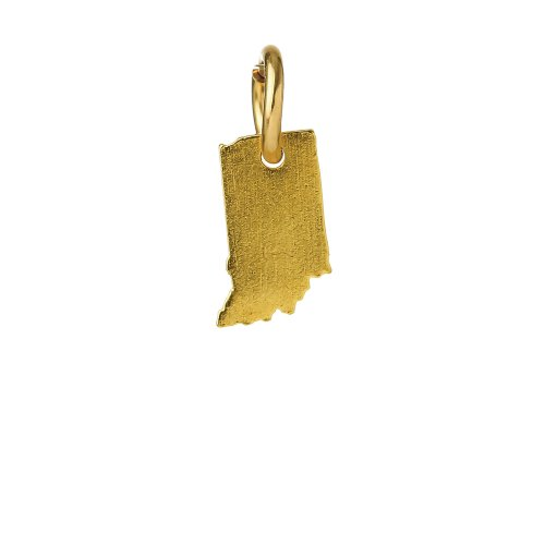 indiana charm, gold dipped