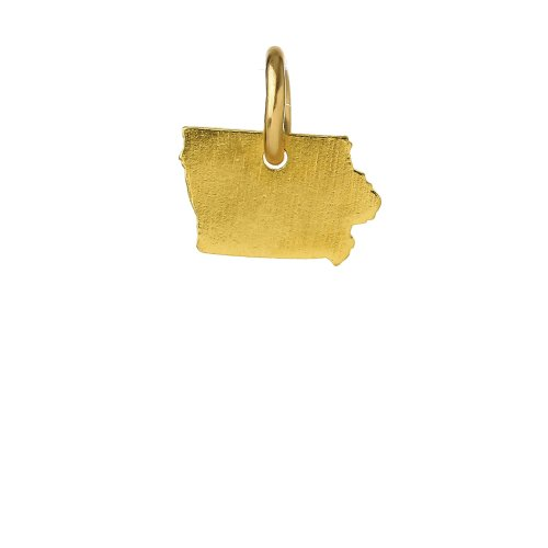 iowa charm, gold dipped