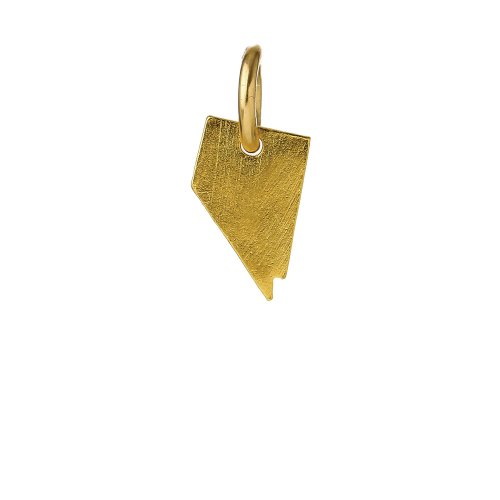 nevada charm, gold dipped