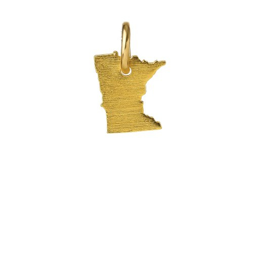 minnesota charm, gold dipped