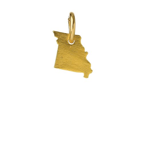 missouri charm, gold dipped