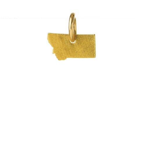 montana charm, gold dipped