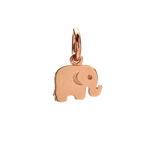 elephant charm, rose gold