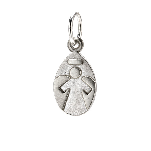 angel charm, sterling silver