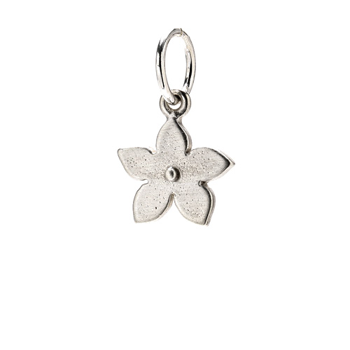 cherry blossom charm, sterling silver