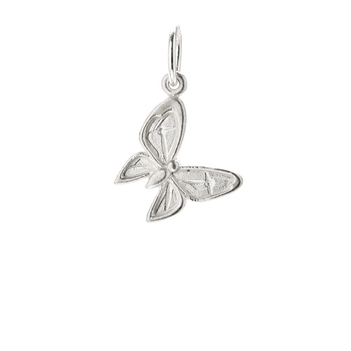 enchanted butterfly charm, sterling silver