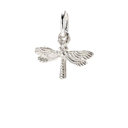 dragonfly charm, sterling silver