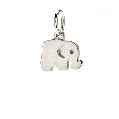 elephant charm, sterling silver