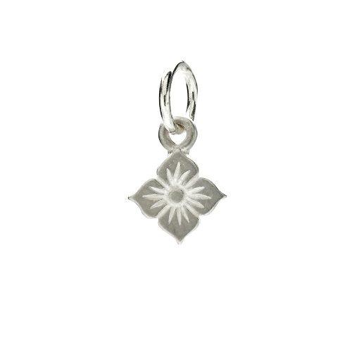 grace's flower charm, sterling silver