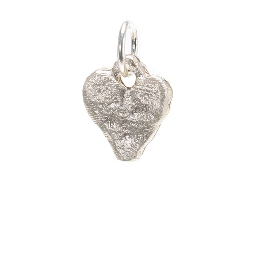 stone heart charm, gold dipped