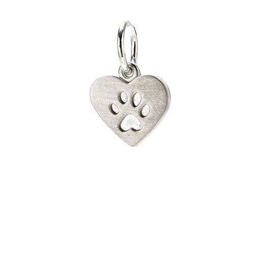 best friends heart charm, sterling silver