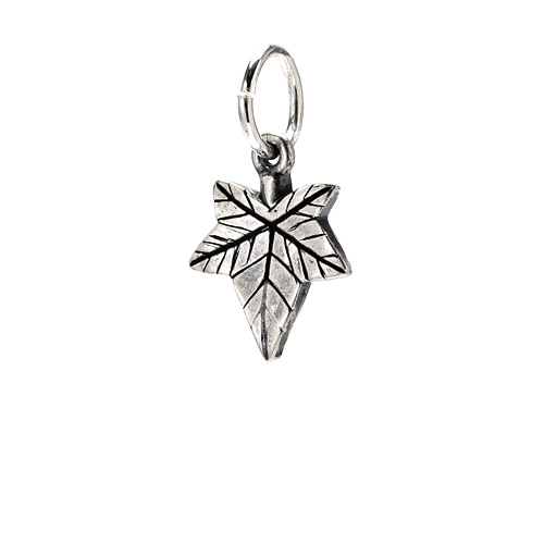 ivy charm, sterling silver