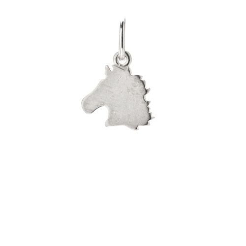 horse charm, sterling silver
