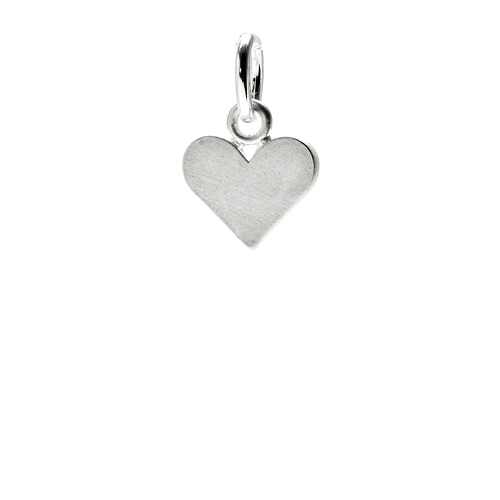 perfect heart charm, sterling silver