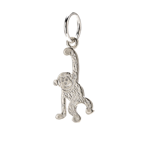 create sterling silver monkey charm